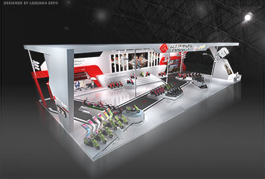 富士达电动车展台设计装修案例